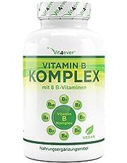 Vitamin B Komplex 200 Tabletten - Alle wichtigen B-Vitamine in 1 Tablette, Vitamine B1, B2, B3, B5, B6, B12, D- Biotin und Folsäure, Premium Qualität, Vegan, Vit4ever