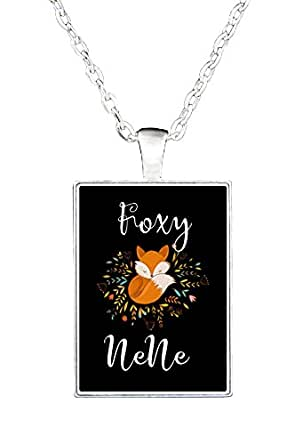 Amazon.com: Foxy Nene Gift. Funny And Cute Drawing Of Fox - Necklace