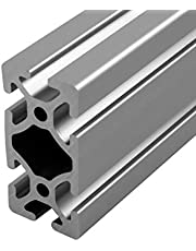 """Faztek 15QE1530 Aluminum 6063-16 T-Slotted Heavy Extrusion with Clear Anodize Finish, 48"""" Length x 1-1/2"""" Width x 3"""" Height"""