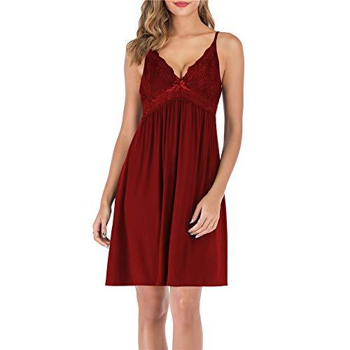 Slips for Women Dresses red Babydoll Dress Women Sleepwear for Women Spaghetti Strap Dress lace Dress red XXL