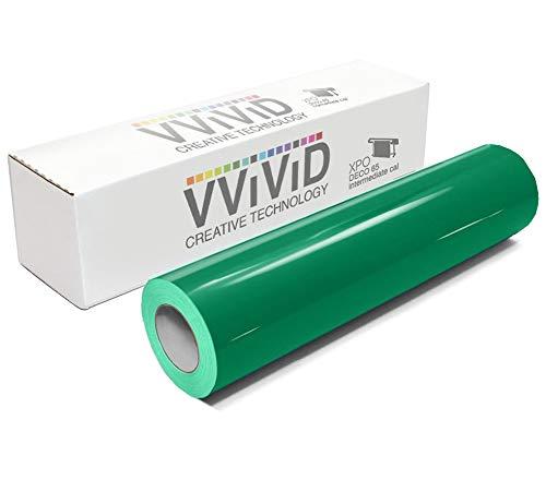 VViViD Green Gloss DECO65 Permanent Adhesive Craft Vinyl for Cricut, Silhouette & Cameo (7ft x 11.8