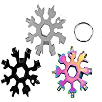 18 in 1 Stainless Multi-tool Snowflake Keychain Wrench Screwdriver Bottle Opener (ALL OF EACH COLOUR)