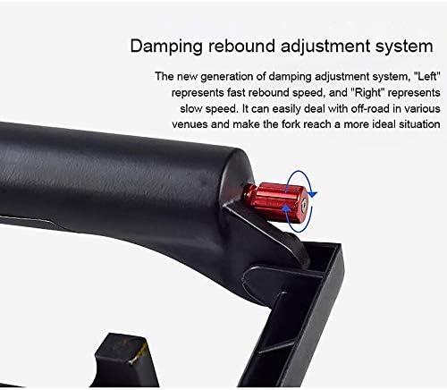 27.5インチマウンテンバイクフロントフォーク、ショルダーコントロール/ストレートチューブ/スタンドパイプ外径28.6mm /シャフトチューブ長さ250mm /ストローク130mm /オープンギア100MM