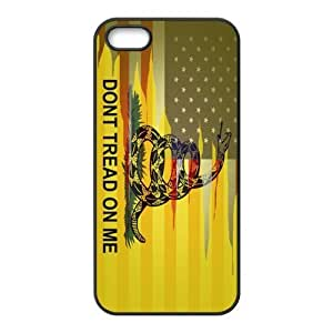 Fashionable Gadsden Flag Don't Tread On Me Design Printed Durable Rubber Iphone 5 5s Case