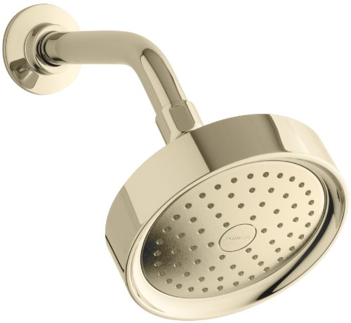 Kohler K-965-AK-AF Purist Single Function Katalyst Showerhead, Vibrant French Gold