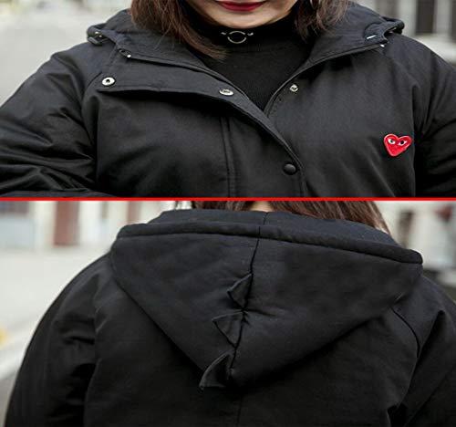 Donna Più Casual In Acvxz Nero Donna Da Extra Fertilizzante Cappello Large Invernale Abiti Cappotto Con Sciolto Dalian Cotone qfwx5YIx