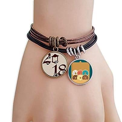 Dog Paw Prints 2018 Happy New Year Bracelet Rope Doughnut Wristband Estimated Price -