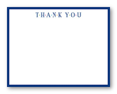 STATIONARY, thank you Flat Notecard. Includes (10) 5.5 x 4.25 card and (10) envelopes.