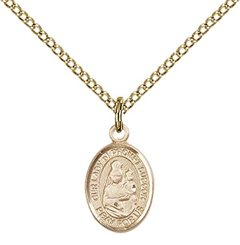 14kt Gold Filled Our Lady of Prompt Succor Pendant with 18