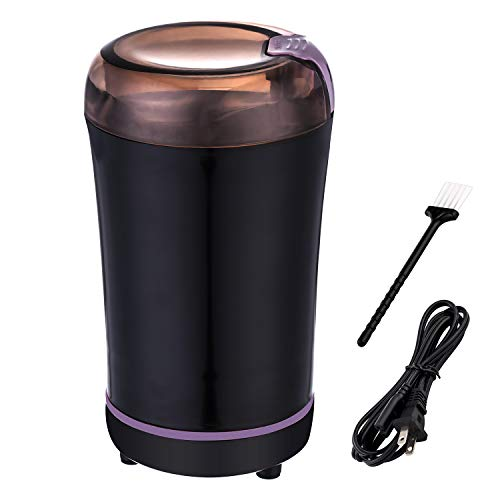 Coffee Grinder Electric, Small Coffee Beans Mill Grinder for Herbs, Spices, Seeds, Grains and Nuts, Apply to French Press, Drip and Espresso