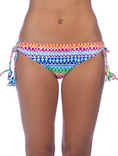 La Blanca Women's Full Spectrum Loop Tie Side Hipster Bikini Bottom Multi (Side Tie Hipster Bikini Bottoms)