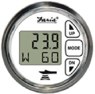 New Digital Depth Sounder With Air & Water Temperature faria Instruments 13852 Chesapeake SS Transducer Transom