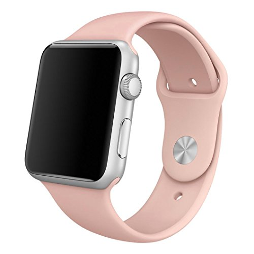 LizaTech Soft Silicone Replacement Sports Band For Apple Watch - 42mm (Pink)