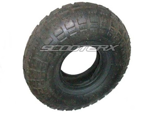 """4.10x3.50 4"""" Tire - Commonly Used for Gas Scooters, Pocket Bikes, Mini Choppers, Go Karts, and More! [3120] -  ScooterX"""