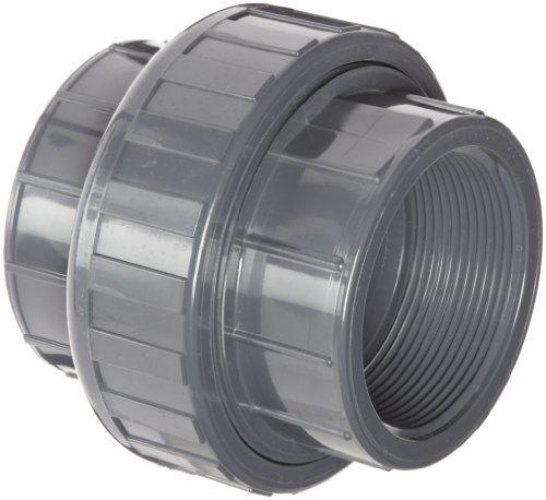 Spears 898 Series PVC Pipe Fitting, Union with EPDM O-Ring, Schedule 80, 1