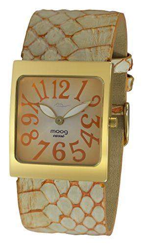 Moog Paris Fantasia Women's Watch with Orange Dial, Orange Strap in Genuine Snake Skin - M41482-103