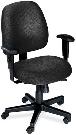 MidBack Ergonomic Computer Chair Charcoal Fabric/Black Frame