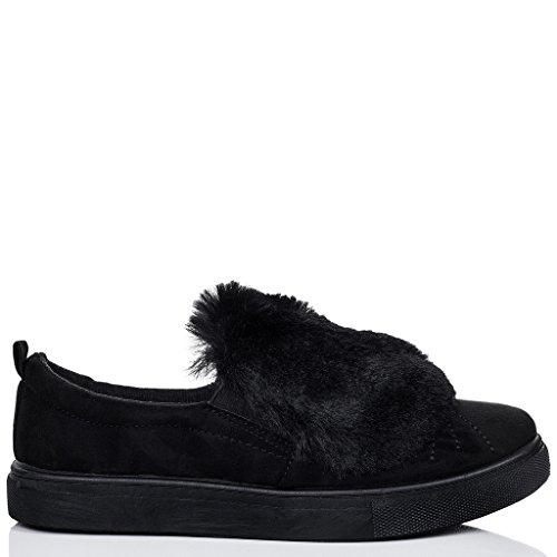 SPYLOVEBUY BONBON Mujer Planos Zapatos de salón Negro - Gamuza Sintética