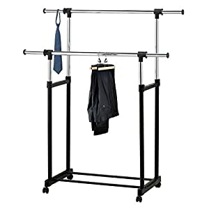 modern chrome plated garment rack with. Black Bedroom Furniture Sets. Home Design Ideas