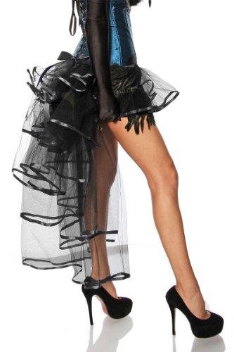 45c9f1c50f868f 2-tlg. Burlesque SET / 2 Teile Burlesque-Corsage in blau schwarz UND ...