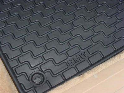 BMW Genuine Original Front Rubber Mat Black E36 318 323 325 M3 Convertible Only Bmw 318i Floor Mats
