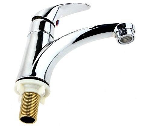 New Chrome Plated Single Lever Faucet Basin Sink Bathroom Tap Motorhome / (Chrome Plated Single)