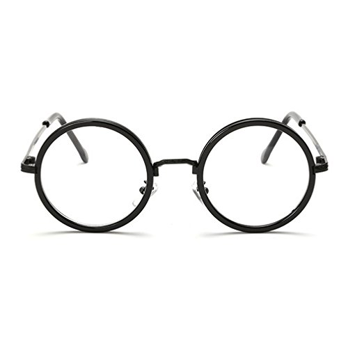G&T Men's and Women's Fashion Glasses Round Frame Anti Blue Retro Glasses(C1)