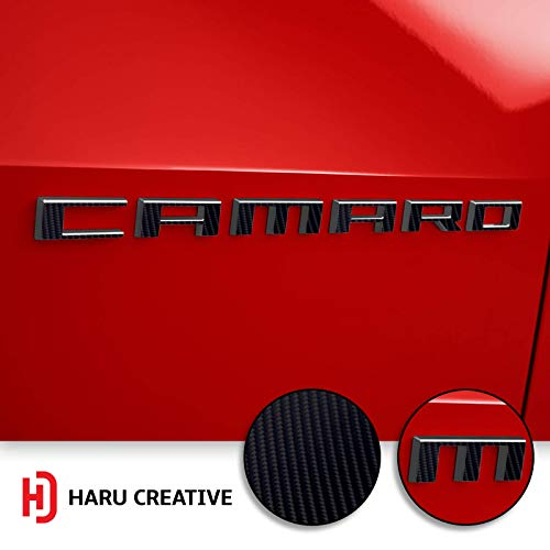 Emblem Not Included Haru Creative - Carbon Fiber Black Loyo Vinyl Overlay Aftermarket Decal Compatible with and Fits All BMW Emblem Caps for Hood Trunk Wheel Fender