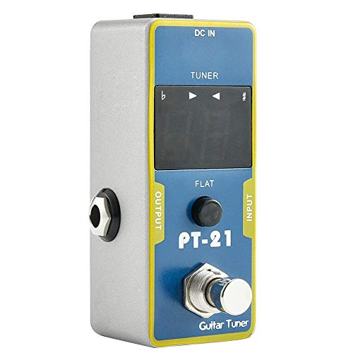- Irich Full Metal Shell Guitar Tuner Pedal, Guitar Effect Pedal with Low Noise True Bypass Portable Accessory for Guitar Bass Electric