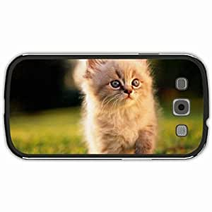 New Style Customized Back Cover Case For Samsung Galaxy S3 Hardshell Case, Black Back Cover Design Cat Personalized Unique Case For Samsung S3
