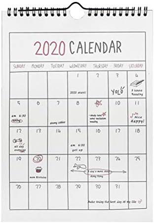 STOBOK Wandkalender 2020 Familienkalender Monatsplaner Memo Kalender Vorschau