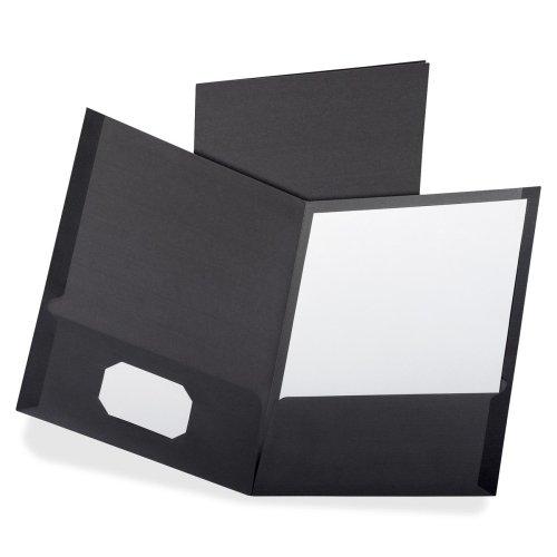Esselte Oxford Linen Twin Pocket Portfolio - Letter - 8.50