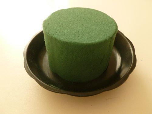 1x cilindro di spugna floreale verde scuro. Per arrangiamenti floreali / esposizione matrimoni