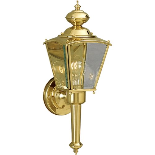 Progress Lighting P5846-10 Wall Torch with Clear Beveled Glass Panels, Polished ()
