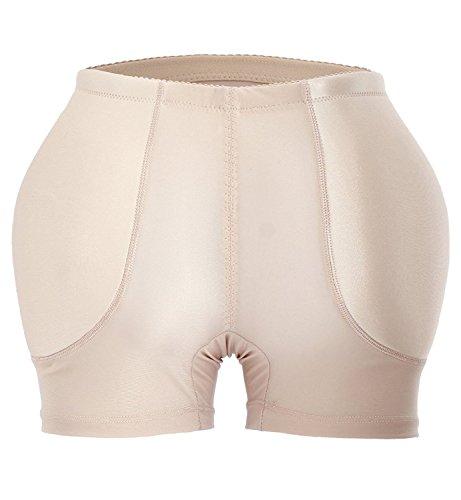 9162b6c8dd YIANNA Womens Tummy Control Panty Underwear Pads Butt Lifter Shaper Fake  Butt