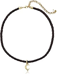 Lucky Brand Womens Moon Leather Choker Necklace