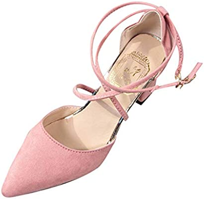Women Summer Solid High Heel Shoe Ladies Fashion Casual Pointed