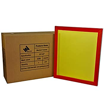 Image of 20 x 24 Inch Pre-Stretched Aluminum Silk Screen Printing Frames with 230 Yellow Mesh (6 Pack Screens) Accessories