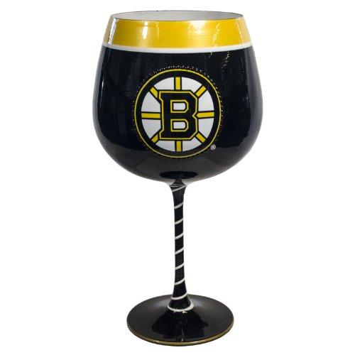 NHL Boston Bruins Artisan Wine Glass, 33-ounce