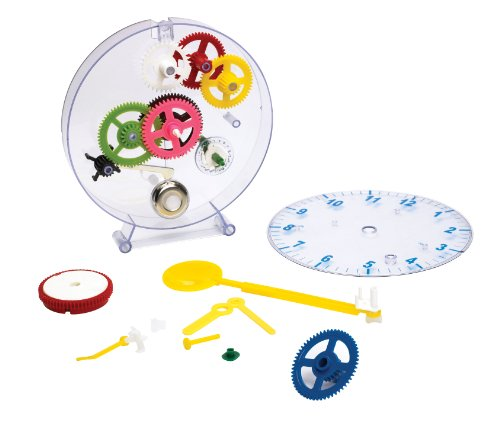 (Happy Puzzle Company The Amazing Clock Kit - Construct your own colorful real working clock. Educational toy that teaches how clocks work, and doubles as an actual wind-up clock.)