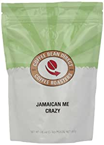 Coffee Bean Direct Jamaican Me Crazy Flavored, Whole Bean Coffee, 16-Ounce Bags (Pack of 3)