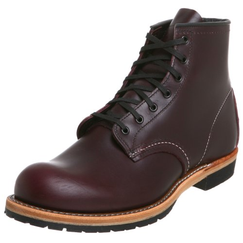Red Leather Marrone Mens Marrone Beckman Round Boots 9011 Wing naaAOwrF