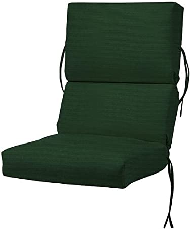 Bullnose High Back Outdoor Chair Cushion, 4Hx20Wx44u0026quot .