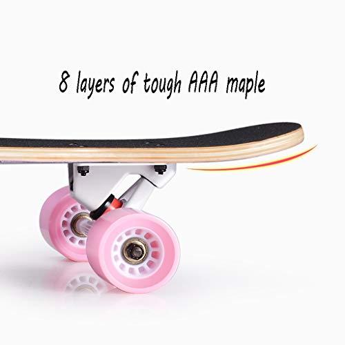 HXGL-Skateboard Professional Skateboard Longboard Boys Skateboard Professional Brush Street Dance Board Beginner Girls Boys (Color : Flash-Colorful) by HXGL-Skateboard (Image #2)