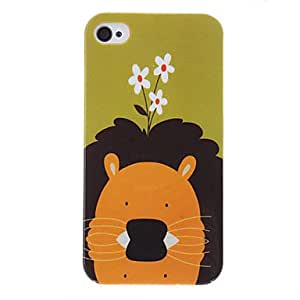 RC - Lion Pattern Protective Hard Case for iPhone 4/4S