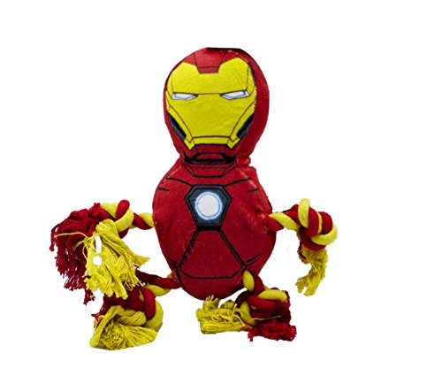 Marvel Comics Iron Man Rope Knot Buddy For Dogs | Super Hero Toys For All Dogs and Puppies
