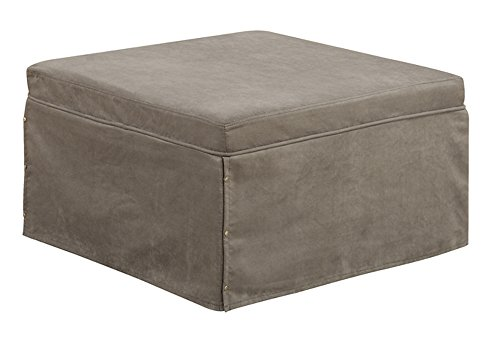 Convenience Concepts Designs4Comfort Folding Bed Ottoman, (Cherry Folding Ottoman)