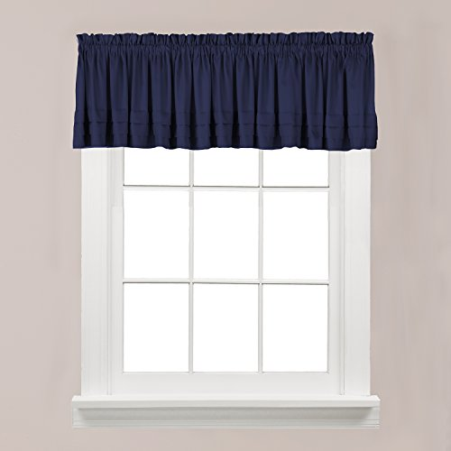 - SKL Home by Saturday Knight Ltd. Holden Valance, Navy, 58 inches x 13 inches