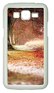 Forest Trees Path Fallen Leaves Polycarbonate Hard Case Cover for Samsung Grand 2/7106 White