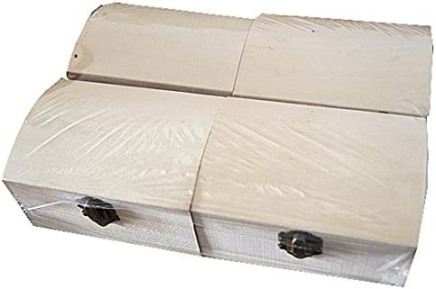 4 cajas de madera con baúl para decorar pintar decoupage: Amazon.es: Hogar